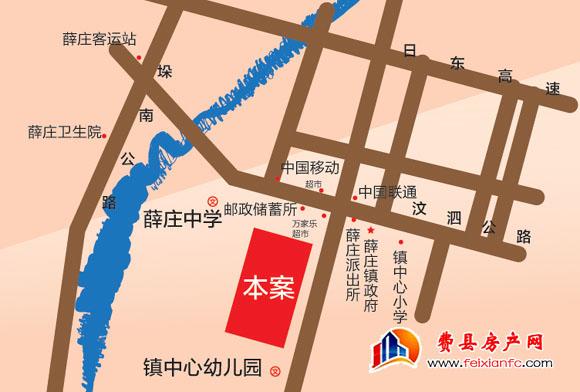 薛庄锦绣嘉园区位图